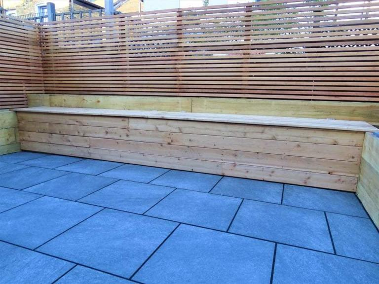 design and install porcelain patios