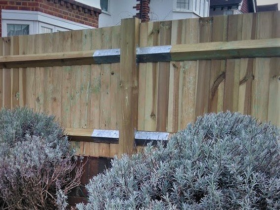 Fence Repaired with Arris Rail Brackets New Malden