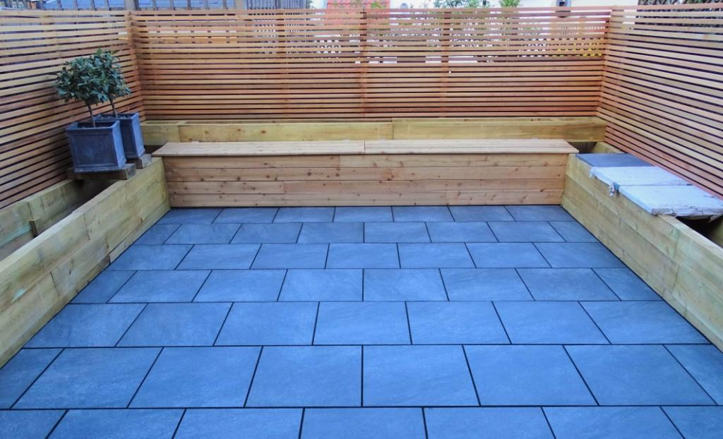 Oilcanfinish Landscaping Porcelain Paving Anthracite Tooting