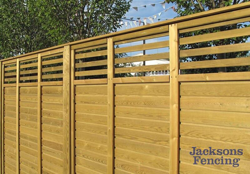 Jacksons Fencing Canterbury Combi Slatted Fence Panels