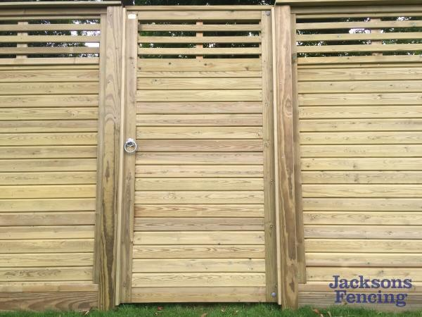 Jacksons Fencing Canterbury Combi Gate Oilcanfinish Landscaping