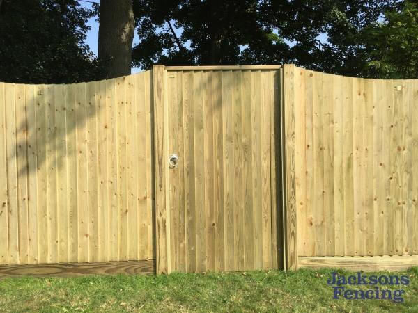 Jacksons Fencing Featherboard Gate Oilcanfinish Landscaping