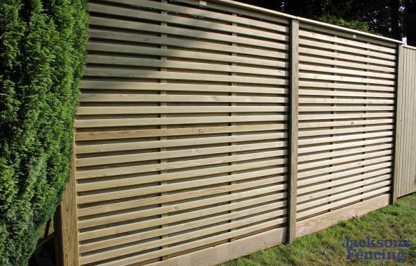 Jacksons Fencing Venetian Hit And Miss Fence Panels