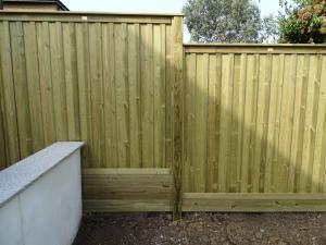 Fencing Replacement Project in Surbiton Stepped Fence Oilcanfinish Landscaping